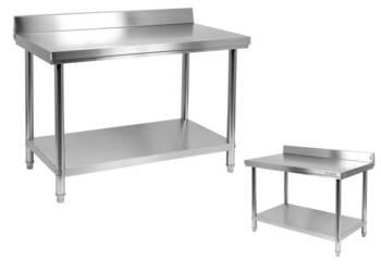 Blat roboczy stół 80x70cm z rantem i półką Yato