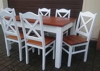 Krzesło prowansalskie krzyżak białe skandynawskie producent