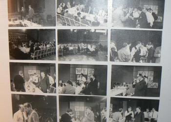 Unikat lata 70-te - bankiet  pracowników Telewizji Polskiej