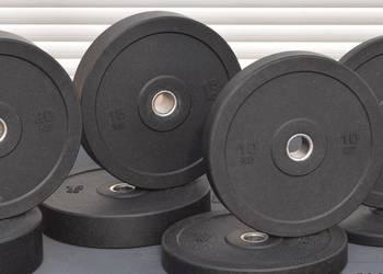 Obciążenia gumowe bumpery na gryf olimpijski kmp.100kg