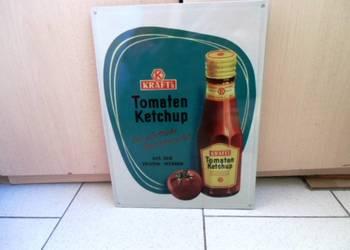 Blaszany szyld reklamowy met.Ketchup KRAFT- Duży 30 x 40 cm.