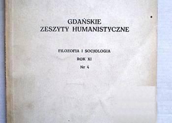 Gdańskie Zeszyty Humanistyczne Filozofia i Socjologia Rok XI