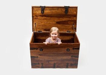 Indyjski kolonialny duży kufer eksluzywny skrzynia pojemnik na szafka na buty 90x55 palisander rosewood sheesham