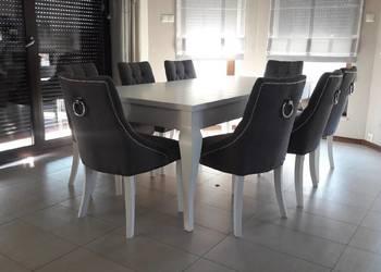 Pikowane krzesło eleganckie nowoczesne z kołatką pikowane