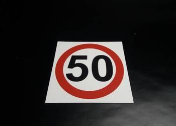 ZNAK OGRANICZENIE PRĘDKOŚCI 50 km/h