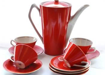 Serwis do kawy Elżbieta Chodzież design lata 60te