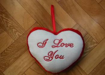 Serce zamszowe na Walentynki