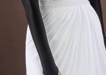 Rękawiczki czarne długie do sukienki