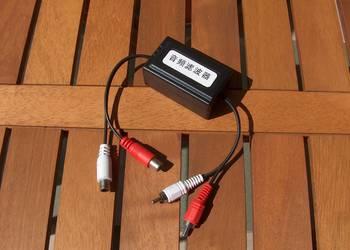 Filtr przeciwzakłóceniowy stereo RCA żeńskie -> RCA męskie
