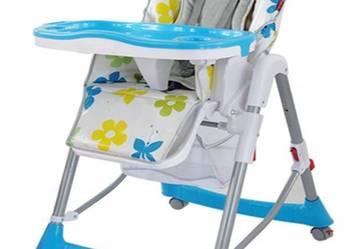 Krzesełko do karmienia dziecka. Warszawa -wysyłka NIEBIESKIE