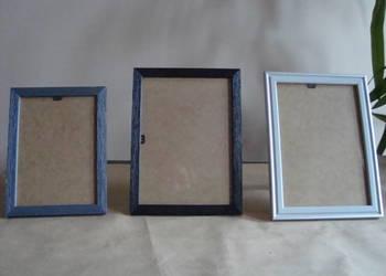 Ramki na zdjęcia drewniane 3 szt.