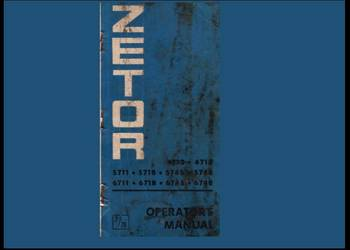 ZETOR 4712, 4718, 5711, 5718, 5745, 5748 instrukcja obsługi, używany na sprzedaż  Kielce