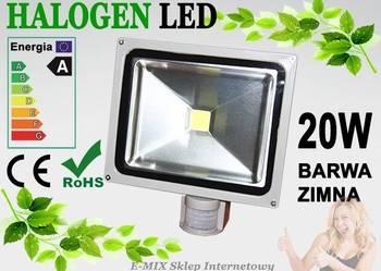 Halogen Lampa LED 20W z czujnikiem ruchu wodoodporny !!!