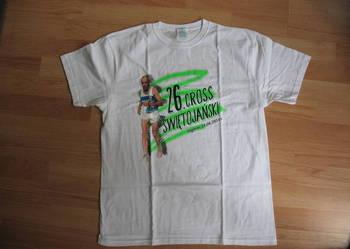 Koszulka bawełniana, biała z nadrukiem