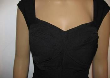 koktajlowa  czarna sukienka wizytowa DRESS V