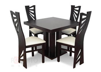 Praktyczny Stół 90/90/240 + 4 Krzesła K-56-Okazja!