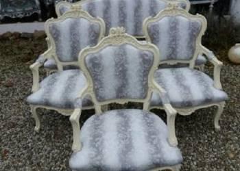 Zestaw Antyk stylowa sofa Ludwik barok 2 fotele 3 krzesła