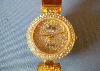 Zegarek kwarcowy-POZŁACANY