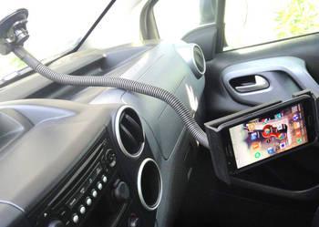 Giętki uchwyt 125cm do szyby samochodowej na tablet telefon