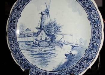stary  talerz ceramiczny/Royal Sphinx + stojak drewno