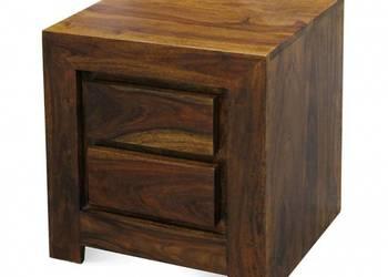 drewniany stolik nocny szafka nocna z dwoma szufladkami