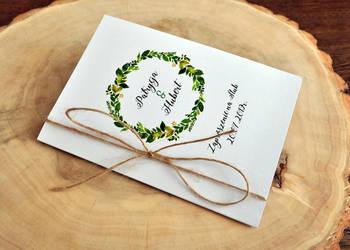 zaproszenie ślubne zaproszenia boho rustykalne sznurek