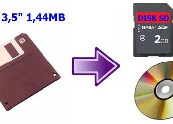 Przegrywanie z dyskietek 3,5 cala i SD, VHS na DVD