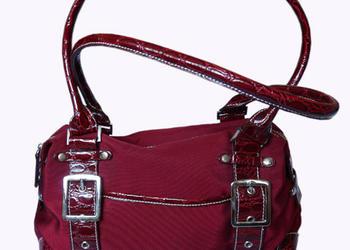 Elegancka, bordowa wiśniowa torebka - kuferek :)