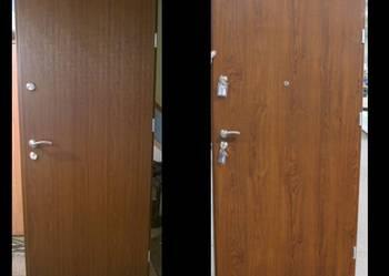 drzwi zewnetrzne stalowe 55 mm złoty dab 90 od reki