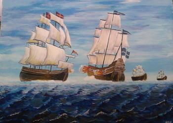 Obraz olej na płótnie, sygnowany, wymiary: 73x53, Olejny, Płótno, Obrazy olejne np. do salonu