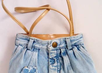 włoska torebka jeansowa