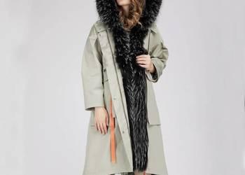 Parki - kurtki - płaszcze - zimowe damskie futro naturalne