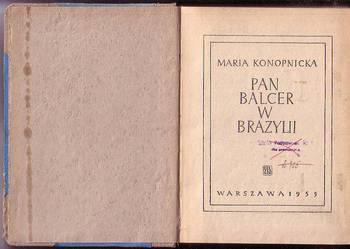 (8698) PAN BALCER W BRAZYLII – MARIA NKONOPNICKA