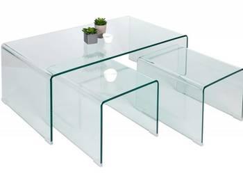 Zestaw szklanych stolikow hartowane szklo