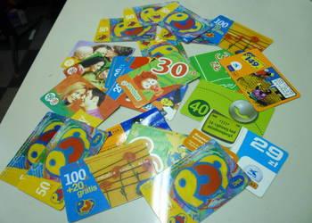 Karty telefoniczne plus karty doładowań