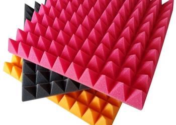 panele akustyczne maty wyciszające piramidki 50x50x7 cm sz-n