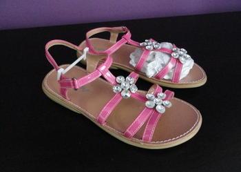 Nowe sandałki dziewczęce 34 wkł. 22cm