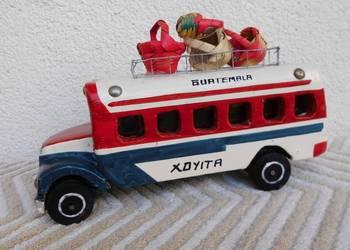 Stary drewniany autobus wystrugany ręcznie - UNIKAT