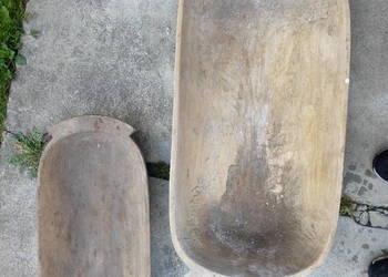 Drewniane dłubane koryta dzierża niecka patera