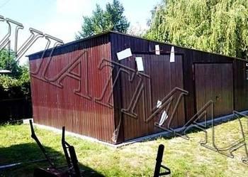 Garaż blaszany-8x6m,CAŁOŚĆ profil zam.,brama,blaszak