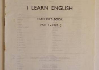 I LEARN ENGLISH SŁOWNICZEK TEACHERS BOOK