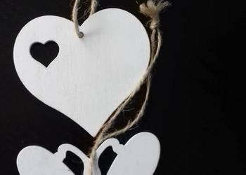 Zawieszki motyl i serce