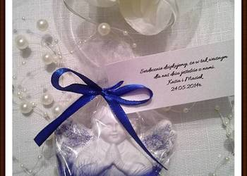 Podziękowania dla gości chrzest ślub komunia Aniołki gipsowe