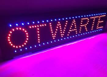 LED szyld reklama OTWARTE 77cm NOWA producent