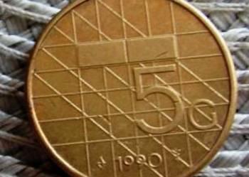 Holandia 5 Guldenów 1990r