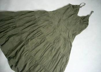 Inwear SUKIENKA hafty falbany khaki J NOWA 36 S 38 M