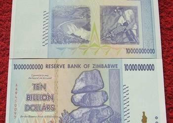 ZIMBABWE 10 BILIONÓW DOLARÓW Kolekcjonerski Banknot UNC