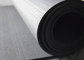 Mata gumowa w rolce 4mm czarna szerokość 100cm