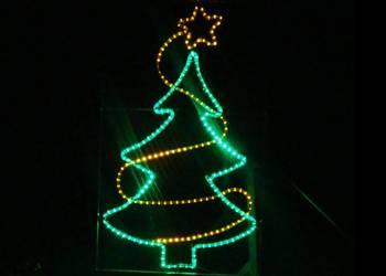 Choinka Dekoracja Latarniowa ozdoby świąteczne LED 2D