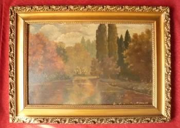 ANTYK - Stary obraz olejny, sygnowany K.Goetze '48